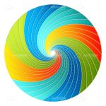 Multicoloured Swirly Icon Design