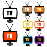 Analogue Television Icons 8 Pack