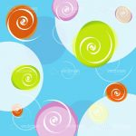 Abstract Colourful Swirls Background