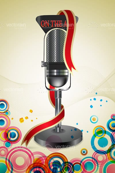 Abstract Colourful Background with Microphone