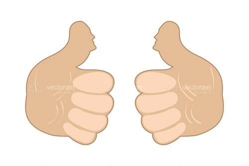 Pair of Hands doing Thumbs Up