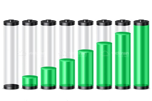 Green Battery Level Indicator Icons Pack