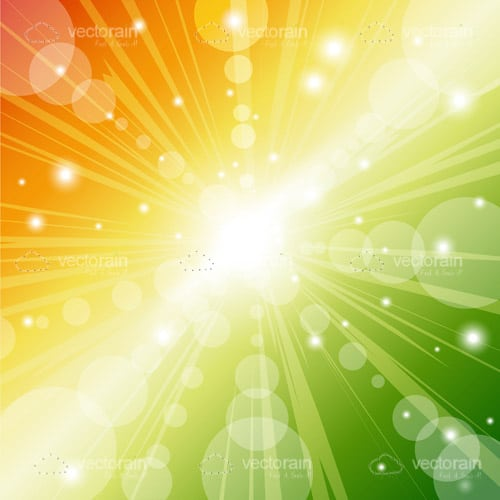 Abstract Colourful Background with Light Beams and Sparkles