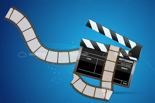 Clapperboard with Film Tape