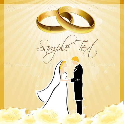 Wedding Invitation Card Background With Sample Text Vectorjunky