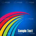 Abstract Background with Colourful Curves and Sample Text