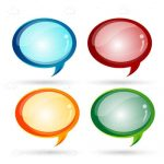 Colourful Glossy Dialogue Bubbles