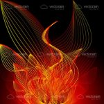 Abstract Red and Orange Flames Background