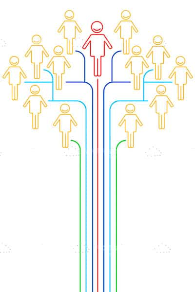 Abstract Networking Concept with Human Figures and Lines