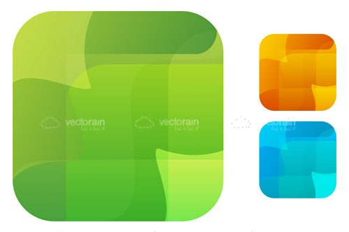 Trio of Abstract Designed Square Style Icon's