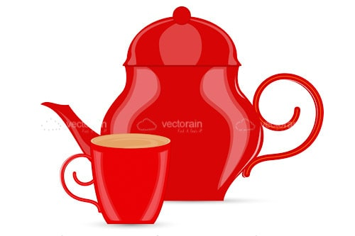 Big Red Coffee Pot and Mug