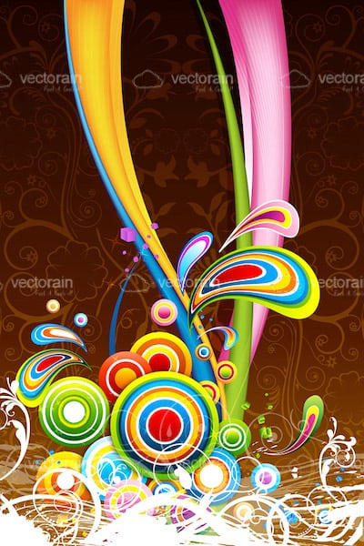 Colourful Abstract Card Background
