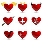 Illustrated Red Heart Icons 9 Pack!