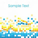 Abstract Geometric Background with Colourful Squares and Sample Text