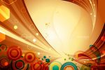 Colourful Abstract Background with Swirls and Circles