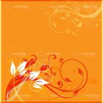 Abstract Floral Background in Autumnal Tones