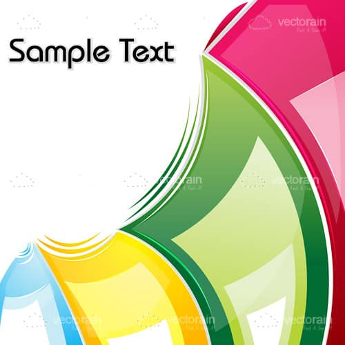 Abstract 4 Coloured Strip Background with Sample Text