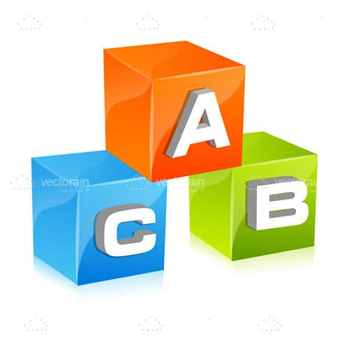 Glossy ABC Cubes