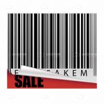 Barcode Sticker with Sale Text