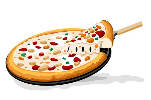 Illustrated Pizza in Pan