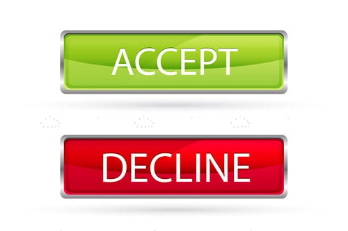 Simple Accept and Decline Buttons