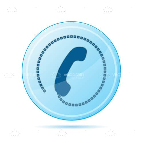 Blue Calling Icon