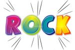 Rock Text in Fun Colourful Letters