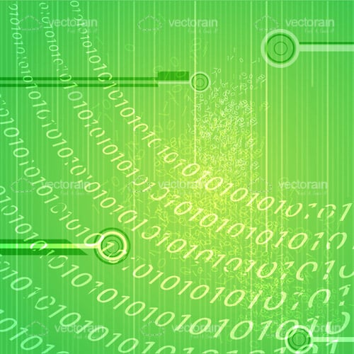 Abstract Technology Background with Binary Pattern
