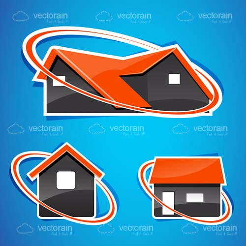 Abstract House Icon Set