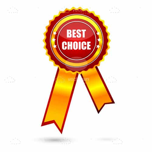 Gold and Red Best Choice Award Ribbon