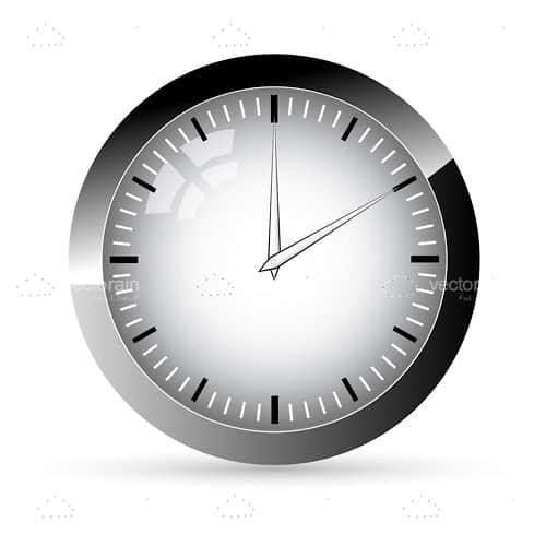 Silver Classic Analogue Clock