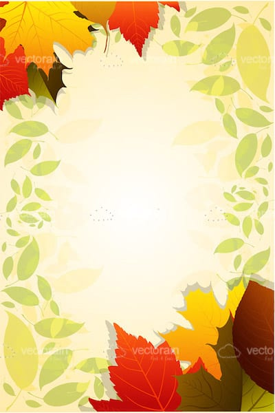 Autumn Floral Card Background