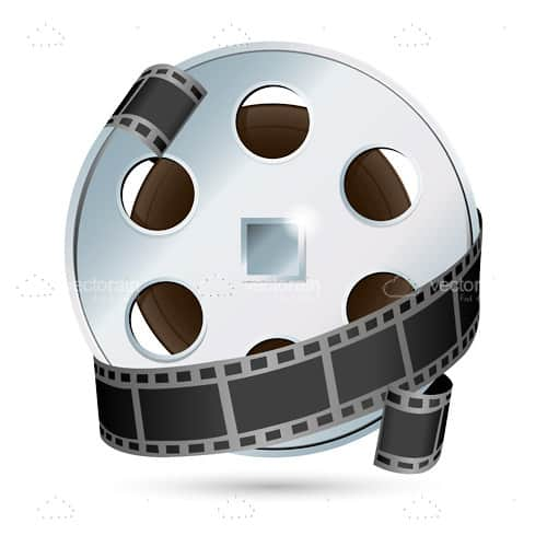 Metallic Film Reel with Film Tape
