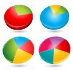 Colourful Pie Charts Set