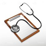 3D Stethoscope and Doctors Notepad