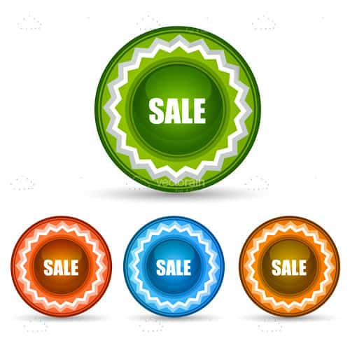 Colourful Round Sale Tags