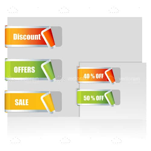 Orange, Green and Yellow Sales Tags