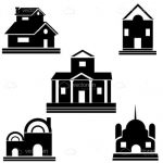 Abstract Buildings Icons