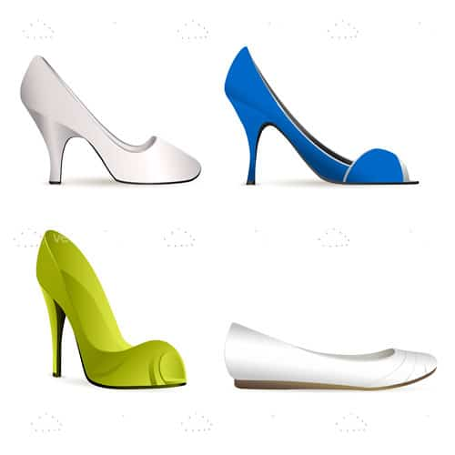 White, Blue and Green Shoe Icon 4 Pack