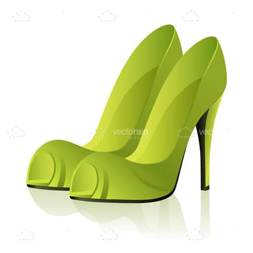 Stylish Green High Heel Shoes