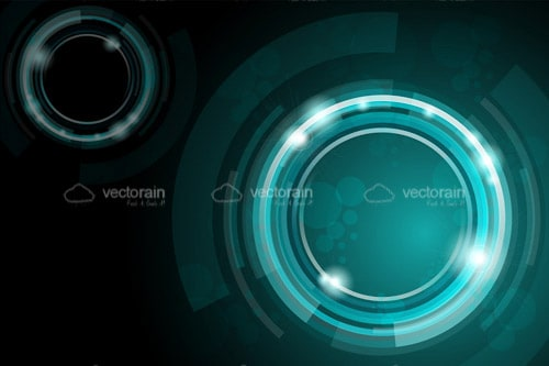 Abstract Background with Circles and Light