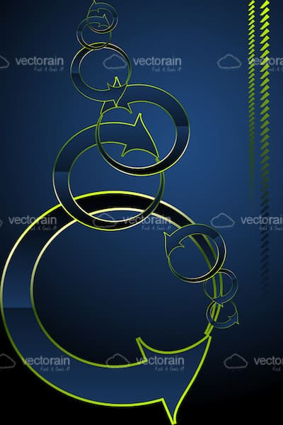 Abstract Looped Arrow Chain