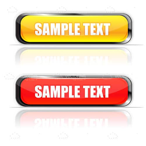 Bright Yellow and Red Indicator Lights with Sample Text
