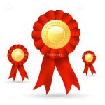 Red and Gold Ribbon Prize Badges