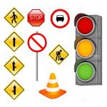 Various Traffic Signs Icon Set