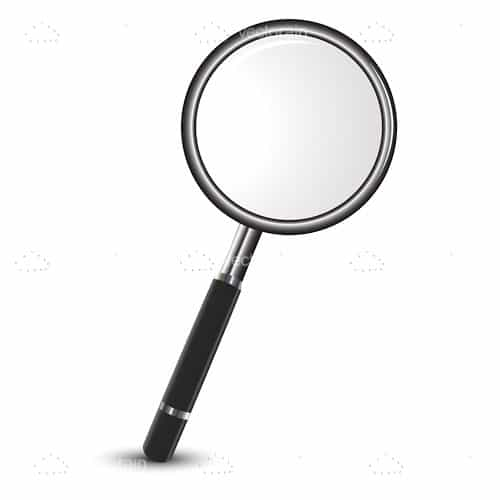 Illustrated Magnifying Glass