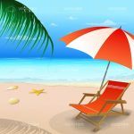 Beach Chair With a Parasol