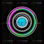 Colorful Closeup Camera Lens