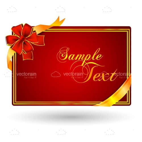 Fancy Card Design in Red and Gold with Sample Text