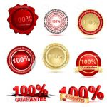 100% Guarantee Stamps and Logos